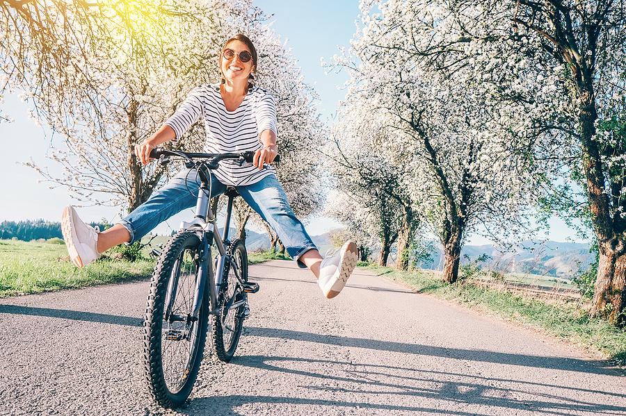 Happy Smiling Woman - Best Cycling Socks for Women