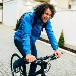 Cycling Shoes for Men - Image Of Handsome Cyclist Man Cycling On His Bike Down The Street