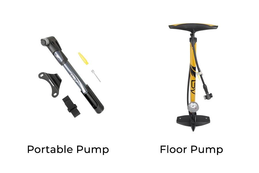 Portable Bike Pump and Floor Pump